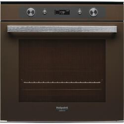 Cuptor incorporabil Hotpoint FI7 861 SH CF HA, multifunctional,73 l, 8 functii, grill, timer, clasa A+, coffee brown