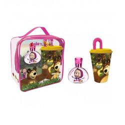Disney Set cadou Masha and The Bear apa de toaleta 50 ml + cana