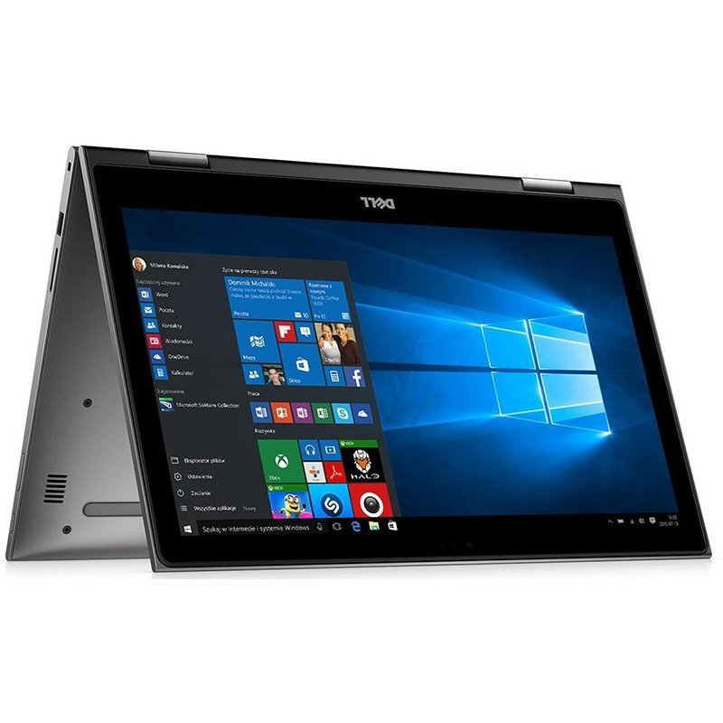 Laptop 2-in-1 DELL 13.3'' Inspiron 5379, FHD IPS Touch, Procesor Intel Core i7-8550U, 8GB DDR4, 256GB SSD, GMA UHD 620, Win 10 Pro, Grey, 3Yr CIS