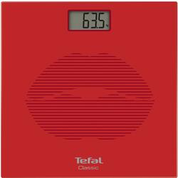 Cantar corporal Tefal Décor PP1145V0, 160kg, 100g, Lcd, 30x30cm, Rosu/Abstract
