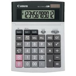 Calculator birou Canon WS-1210THB, 12 digiti, display LCD, alimentare solara si baterie