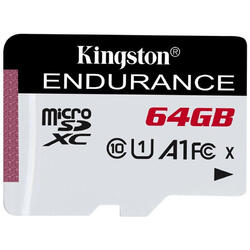 KINGSTON Card Micro SDXC High Endurance, 64GB, CLASS 10