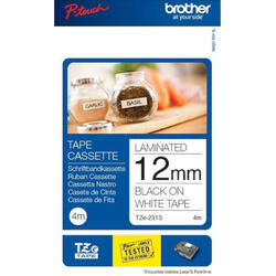 Banda continua laminata Brother TZE231S2, 12mm, 4m