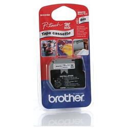 Etichete laminate Brother MK231BZ Black on White, 12 mm