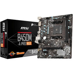 MSI Placa de baza socket AM4, B450M-A PRO MAX