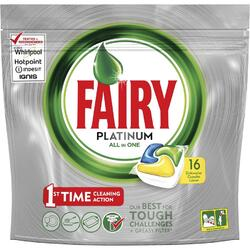 Detergent de vase capsule Fairy Platinum All in 1 16 bucati