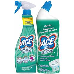 Pachet Ace spray detergent universal 650 ml + Ace gel decalcifiant 700 ml