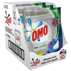 Detergent capsule Omo Ultimate Fresh Clean Trio Caps, 45 Spalari