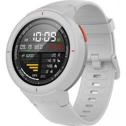 SmartWatch Amazfit Verge alb, curea silicon alba, Bluetooth, GPS si senzor HR, APELURI Bluetooth