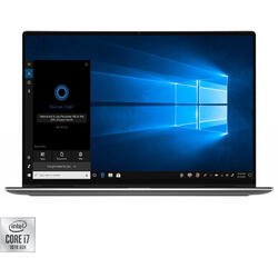 Laptop 2-in-1 DELL 13.4'' XPS 13 (7390), UHD+ Touch, Intel Core i7-1065G7, 16GB DDR4, 512GB SSD, Intel Iris Plus, Win 10 Pro, Silver