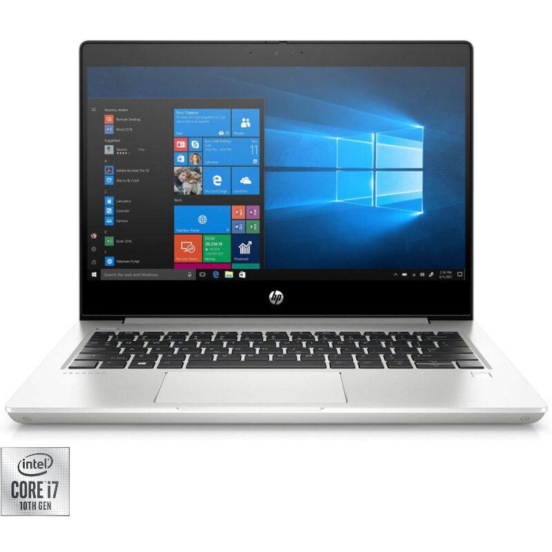 Laptop HP 13.3'' ProBook 430 G7, FHD, Intel Core i7-10510U, 16GB DDR4, 512GB SSD, GMA UHD, Win 10 Pro, Silver