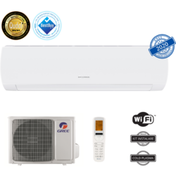 Aer conditionat Gree Muse GWH09AFB-K6DNA1A, 9000 BTU, A++/A+, Wi-Fi, Inverter, Generator Cold Plasma, Afisaj LED, Alb, Kit de instalare inclus
