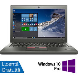 Laptop Lenovo Thinkpad X250, Intel Core i5-5300U 2.30GHz, 8GB DDR3, 120GB SSD, 12.5 Inch + Windows 10 Pro