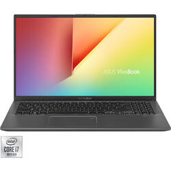 Laptop ASUS 15.6'' VivoBook 15 X512JP, FHD, Intel Core i7-1065G7, 8GB DDR4, 512GB SSD, GeForce MX330 2GB, No OS, Slate Grey