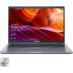Laptop ASUS 15.6'' X509JP, FHD, Intel Core i7-1065G7, 8GB DDR4, 512GB SSD, GeForce MX330 2GB, No OS, Grey