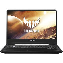 Laptop ASUS Gaming 15.6'' TUF FX505DT, FHD, AMD Ryzen 7 3750H, 16GB DDR4, 512GB SSD, GeForce GTX 1650 4GB, No OS, Black