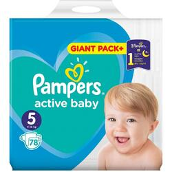 Scutece Pampers Active Baby 5 Giant Pack, 78 buc