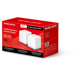 MERCUSYS Sistem wireless MESH Complete Coverage - router AC1200, Halo S12(2-pack)