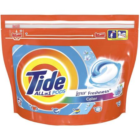 Detergent capsule Tide All in One PODS Touch Of Lenor Color, 58 spalari