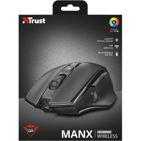 Mouse Gaming Trust GXT 140 Manx Rechargeable Wireless