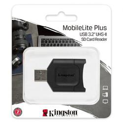 Cititor de carduri Kingston, MOBILELITE PLUS, USB 3.2, MicroSD