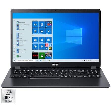 "Laptop Acer Aspire 3 A315-56 cu procesor Intel Core i5-1035G1 pana la 3.60 GHz, 15.6"", Full HD, 8GB, 256GB SSD, Intel UHD Graphics, Windows 10 Home, Black"