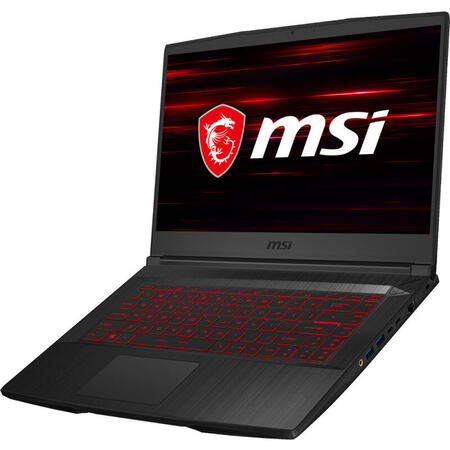 Laptop MSI Gaming 15.6'' GF65 Thin 10SER, FHD 144Hz, Intel Core i7-10750H, 8GB DDR4, 512GB SSD, GeForce RTX 2060 6GB, Free DOS, Black