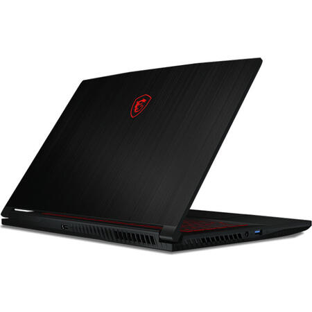 Laptop MSI Gaming 15.6'' GF63 Thin 10SCXR, FHD 144Hz, Intel Core i7-10750H, 8GB DDR4, 512GB SSD, GeForce GTX 1650 4GB, Free DOS, Black