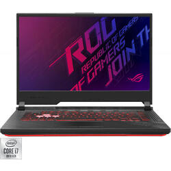 Laptop ASUS Gaming 15.6'' ROG Strix G15 G512LI, FHD 144Hz, Intel Core i7-10750H, 8GB DDR4, 512GB SSD, GeForce GTX 1650 Ti 4GB, No OS, Black
