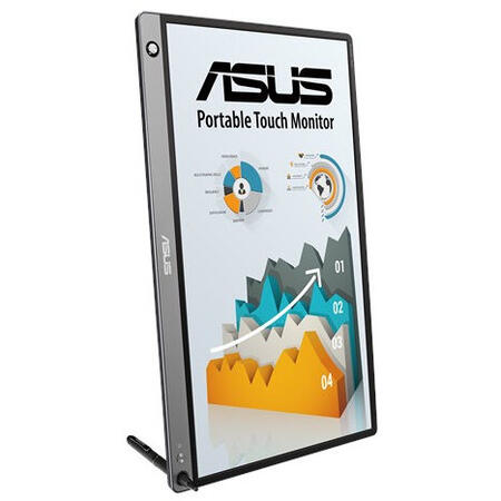 Monitor LED ASUS ZenScreen MB16AHP 15.6 inch 5 ms Argintiu 60 Hz