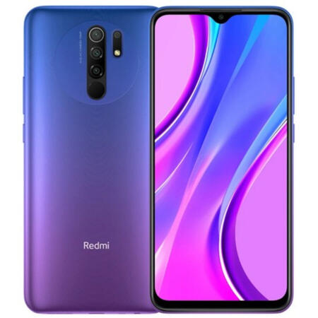 "Xiaomi Redmi 9, Procesor Mediatek Helio G80 Octa-Core 2.0GHz/1.8GHz, IPS LCD Capacitiv touchscreen 6.53"", 4GB RAM, 64GB Flash, Camera Quad 13+8+5+2MP, 4G, Wi-Fi, Dual SIM, Android (Violet)"