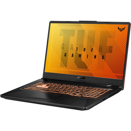 Laptop ASUS Gaming 17.3'' TUF A17 FA706IU, FHD 120Hz, AMD Ryzen 7 4800H, 8GB DDR4, 512GB SSD, GeForce GTX 1660 Ti 6GB, No OS, Bonfire Black