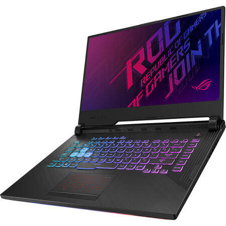 Laptop ASUS Gaming 15.6'' ROG Strix G G531GT, FHD, Intel Core i7-9750H, 8GB DDR4, 512GB SSD, GeForce GTX 1650 4GB, No OS, Black