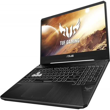 Laptop ASUS Gaming 15.6'' TUF FX505GT, FHD 144Hz, Intel Core i7-9750H, 8GB DDR4, 512GB SSD, GeForce GTX 1650 4GB, No OS, Black