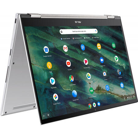 Ultrabook ASUS 14'' Chromebook Flip C436FA, FHD Touch, Intel Core i5-10210U, 8GB, 128GB SSD, GMA UHD, Chrome OS, Aerogel White