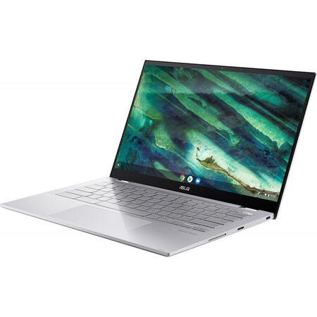 Ultrabook ASUS 14'' Chromebook Flip C436FA, FHD Touch, Intel Core i3-10110U, 8GB, 128GB SSD, GMA UHD, Chrome OS, Aerogel White