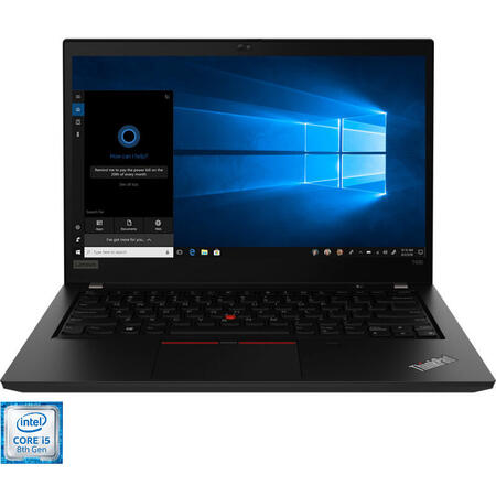 Laptop Lenovo 14'' ThinkPad T490, FHD, Intel Core i5-8265U,  8GB DDR4, 512GB SSD, GMA UHD 620, Win 10 Pro, Black