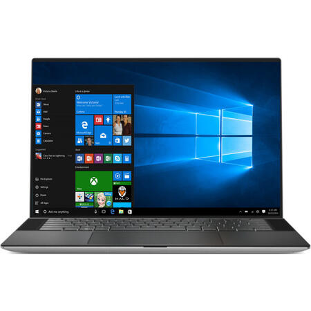 Ultrabook DELL 15.6'' XPS 15 9500, UHD+ InfinityEdge Touch, Intel Core i7-10750H, 32GB DDR4, 1TB SSD, GeForce GTX 1650 Ti 4GB, Win 10 Pro, Platinum Silver
