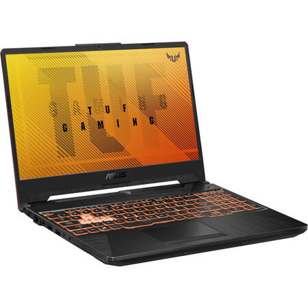 Laptop ASUS Gaming 15.6'' ASUS TUF F15 FX506LI, FHD 144Hz, Intel Core i7-10870H, 8GB DDR4, 512GB SSD, GeForce GTX 1650 Ti 4GB, No OS, Bonfire Black
