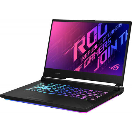 Laptop ASUS Gaming 15.6'' ROG Strix G15 G512LV, FHD 240Hz, Intel Core i7-10870H, 16GB DDR4, 1TB SSD, GeForce RTX 2060 6GB, No OS, Black