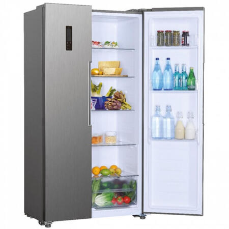 Side by side Candy CHSBSV 5172X, 436 L, H 1.77 m, clasa A+, NoFrost, Inox
