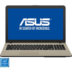 Laptop ASUS 15.6'' VivoBook 15 X540NA, HD, Intel Celeron N3350, 4GB, 500GB, GMA HD 500, No OS, Chocolate Black
