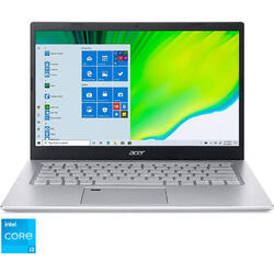 Laptop Acer 14'' Aspire 5 A514-54, FHD, Intel Core i3-1115G4, 8GB DDR4, 256GB SSD, GMA UHD, Win 10 Pro, Pure Silver