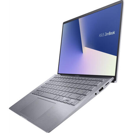 Ultrabook ASUS 14'' ZenBook 14 UM433IQ, FHD, AMD Ryzen 5 4500U, 8GB DDR4X, 512GB SSD, GeForce MX350 2GB, Win 10 Home, Light Grey