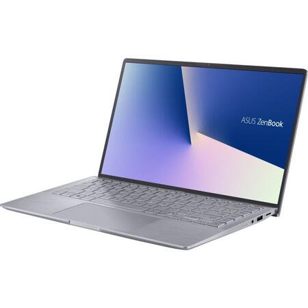 Ultrabook ASUS 14'' ZenBook 14 UM433IQ, FHD, AMD Ryzen 5 4500U, 8GB DDR4X, 512GB SSD, GeForce MX350 2GB, No OS, Light Grey