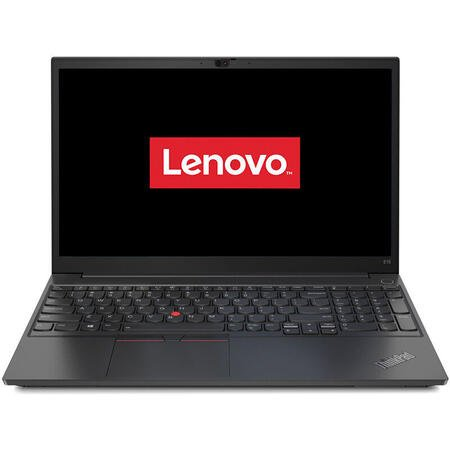 Laptop Lenovo 15.6'' ThinkPad E15 Gen 2, FHD, Intel Core i7-1165G7, 16GB DDR4, 512GB SSD, GeForce MX450 2GB, Win 10 Pro, Black