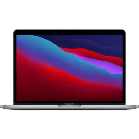 Laptop Apple 13.3'' MacBook Pro 13 Retina with Touch Bar, Apple M1 chip (8-core CPU), 8GB, 256GB SSD, Apple M1 8-core GPU, macOS Big Sur, Space Grey, RO keyboard, Late 2020