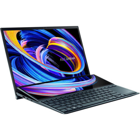 Ultrabook ASUS 14'' ZenBook Duo 14 UX482EG, FHD, Intel Core i5-1135G7, 8GB DDR4X, 1TB SSD, GeForce MX450 2GB, Win 10 Pro, Celestial Blue
