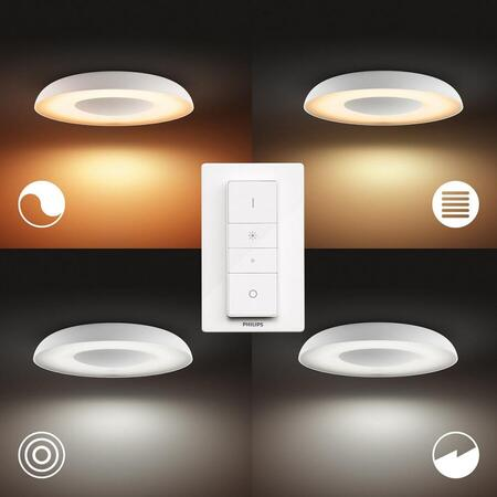 Plafoniera Philips Hue Still, LED integrat, 27W (204W), 24V, IP20