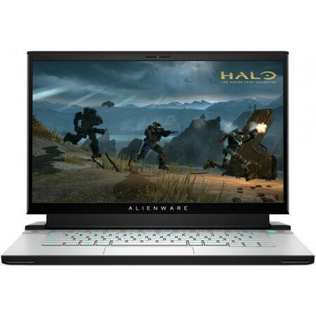 Laptop Alienware Gaming 15.6'' m15 R4, UHD OLED, Intel Core i9-10980HK, 32GB DDR4, 2x 1TB + 512GB SSD, GeForce RTX 3080 8GB, Win 10 Pro, Lunar Light